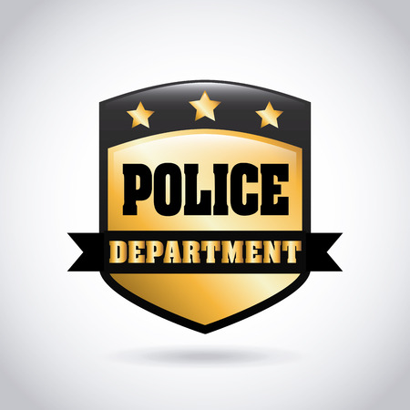 Police design over gray background, vector illustration