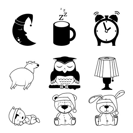 delusion: Good night design over white background, vector illustration