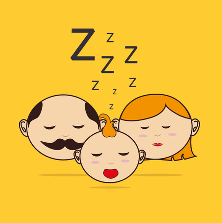 good evening: Good night design over yellow background, vector illustration Illustration