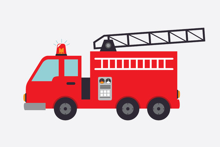fire truck: Firefighter design over white background, vector illustration Illustration