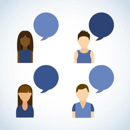 socializando: Dise�o de la red social m�s de fondo gris, ilustraci�n vectorial Vectores