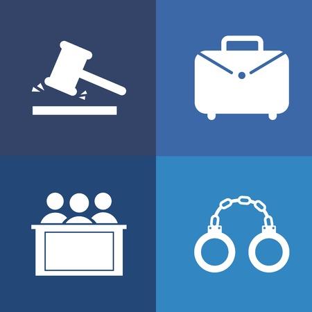 Law design over blue background, vector illustration
