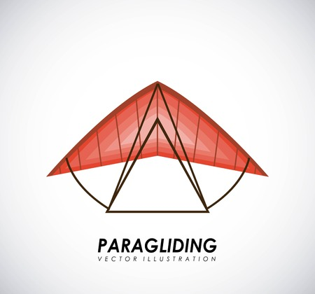 paragliding: Paragliding design over gray background, vector illustration