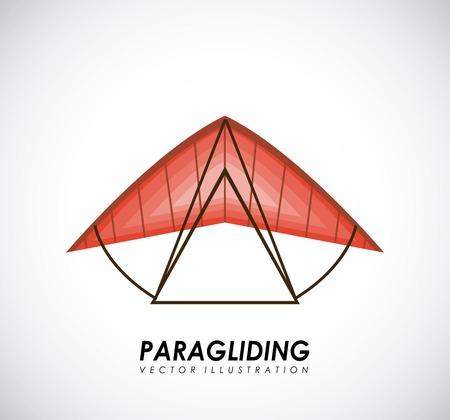 Paragliding design over gray background, vector illustration