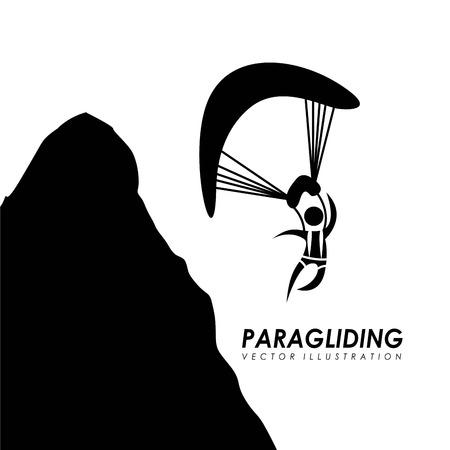 paragliding: Paragliding design over white background, vector illustration