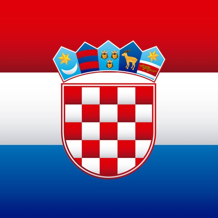 Croatia design, vector illustration