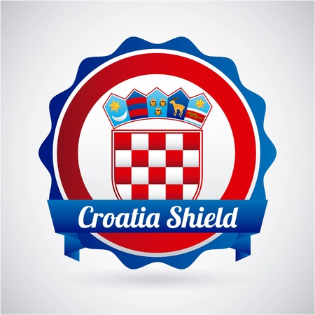 Croatia design over gray background, vector illustration Vector