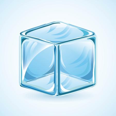 refrigerate: Dise�o de hielo sobre fondo azul, ilustraci�n vectorial
