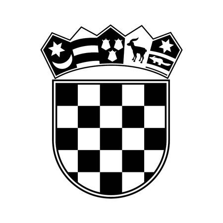 Croatia design over white background, vector illustration
