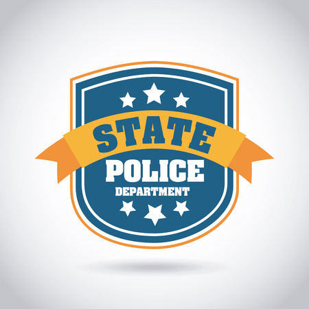 police badge: Police design over gray background, vector illustration