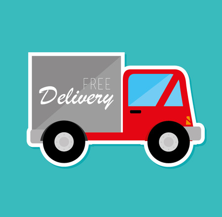 Delivery design over blue background, vector illustration Stock Vector - 29110961