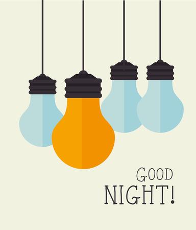 Good night design over beige background, vector illustration