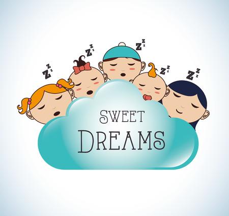good night: Good night design over white background, vector illustration