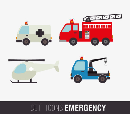 fire truck: Medical design over white background, vector illustration Illustration