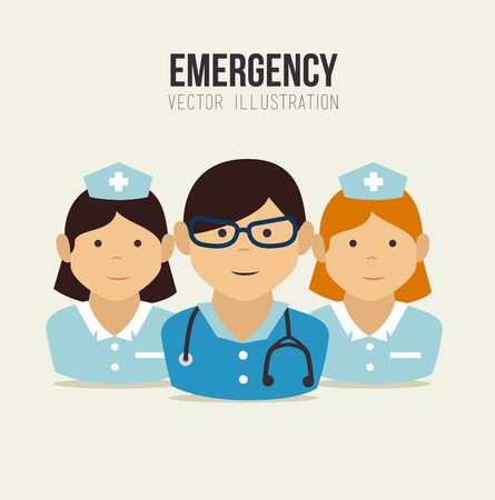 nurser: Medical design over beige background, vector illustration Illustration