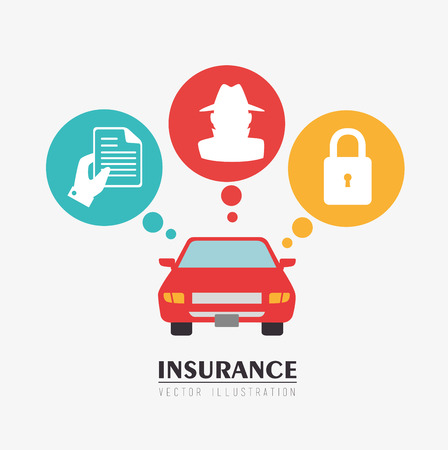 insurance protection: Insurances design over white background, vector illustration Illustration