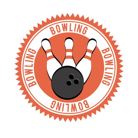 Bowling design over white background, vector illustration Vector