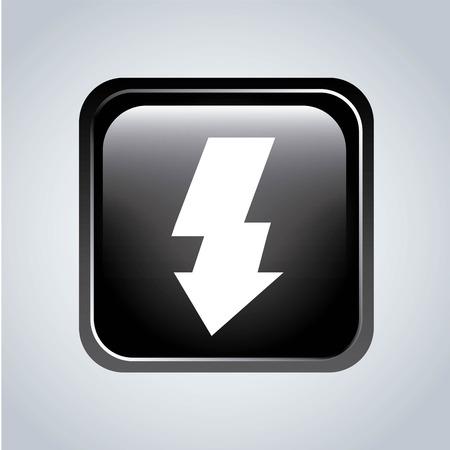 flash point: Arrow design over gray background, vector illustration