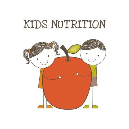 childrens food: Food design over white background, vector illustration Illustration
