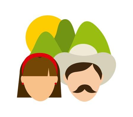 Farmers design over white background, vector illustration Vector