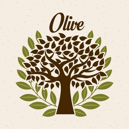 Olives design over beige background, vector illustration Vector