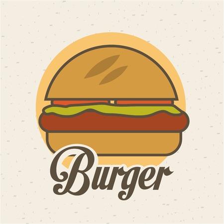 ailment: Dise�o de la Alimentaci�n sobre el fondo beige, ilustraci�n vectorial
