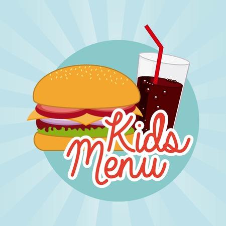 nutritive: Food design over blue background, vector illustration Illustration
