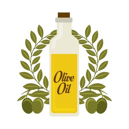 olive oil: Olives design over white background, vector illustration Illustration