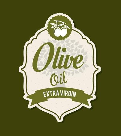 Olives design over green background, vector illustration Vector