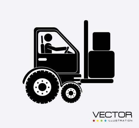 Delivery design over white background, vector illustration Stock Vector - 29291227