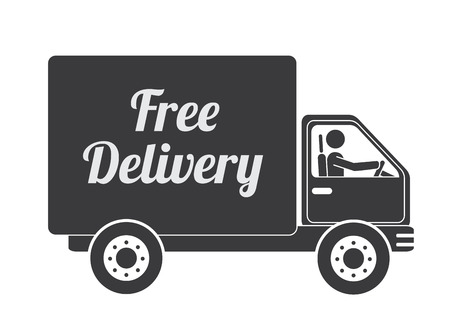 Delivery design over white background, vector illustration Stock Vector - 29291228