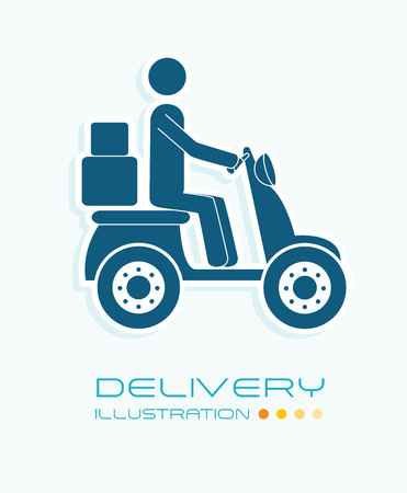 Delivery design over white background, vector illustration Stock Vector - 29289251