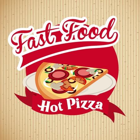 nutritive: Food design over beige background, vector illustration Illustration