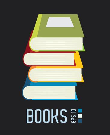 publish: Books design over gray background, vector illustration Illustration
