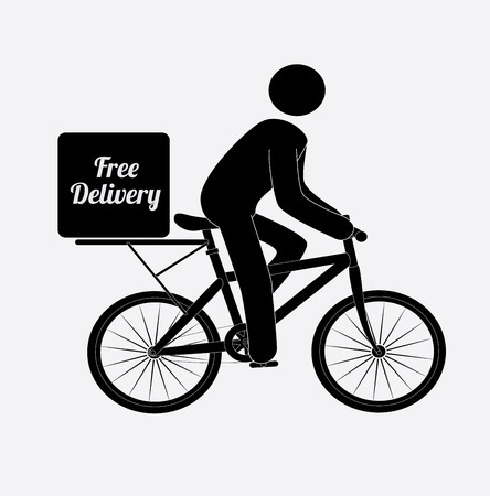 Delivery design over white background, vector illustration Stock Vector - 29282877
