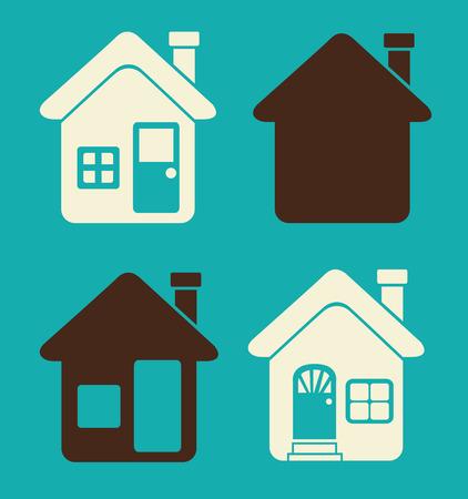 hometown: House design over blue background, vector illustration