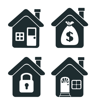hometown: House design over  background, vector illustration