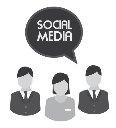 socializando: Dise�o de medios de comunicaci�n social sobre el fondo blanco, ilustraci�n vectorial