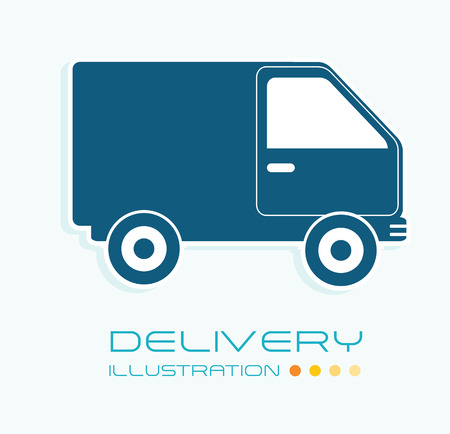 Delivery design over white background, vector illustration Stock Vector - 29288938