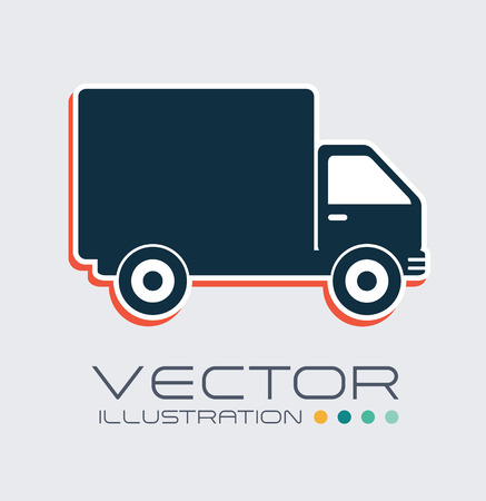 Delivery design over white background, vector illustration Stock Vector - 29288940