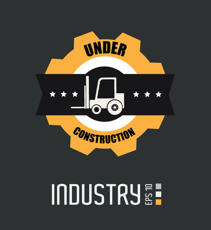 Industry design over gray background, vector illustration Vector
