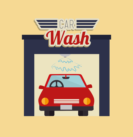 wash: Transport design over beige background, vector illustration
