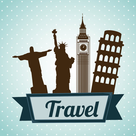 bigben: Travel design over blue background, vector illustration