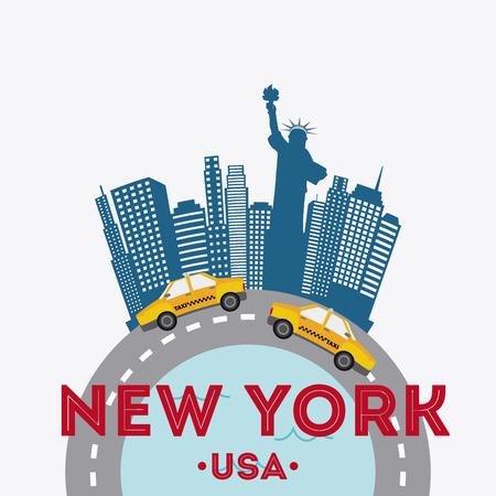 urbanization: NYC design over white background, vector illustration Illustration