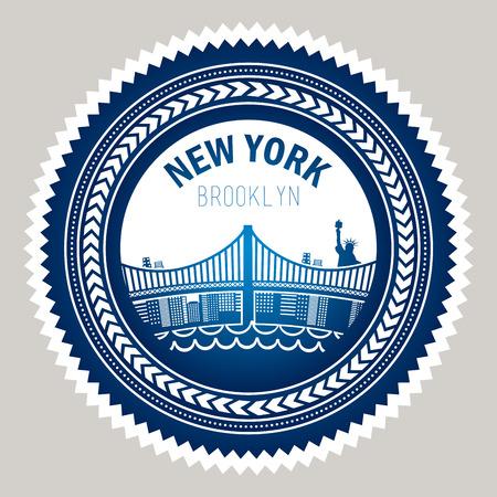 urbanisierung: NYC Design auf grauem Hintergrund, Vektor-Illustration Illustration