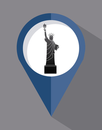 NYC design over gray background, vector illustration Vector