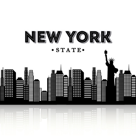 NYC design over white background, vector illustration Vector