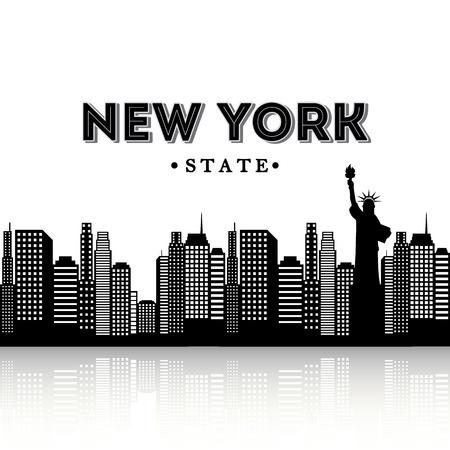 NYC design over white background, vector illustration Illustration