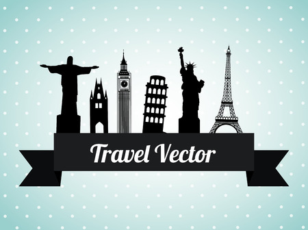 bigben: Travel design over blue background, vector illustration