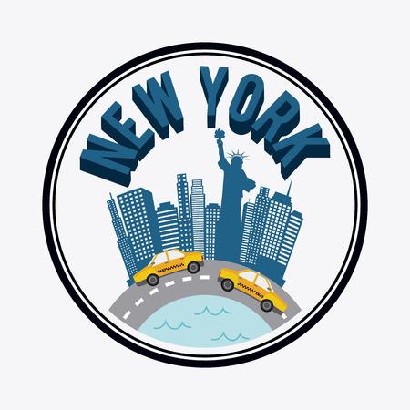 urbanisierung: NYC-Design auf wei�em Hintergrund, Vektor-Illustration